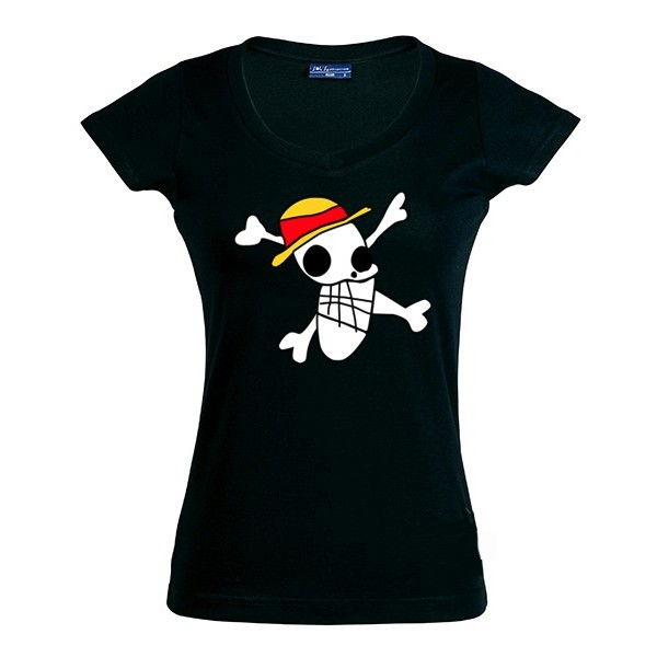 Camiseta One Piece bandera Luffy 1989 draw - de chica