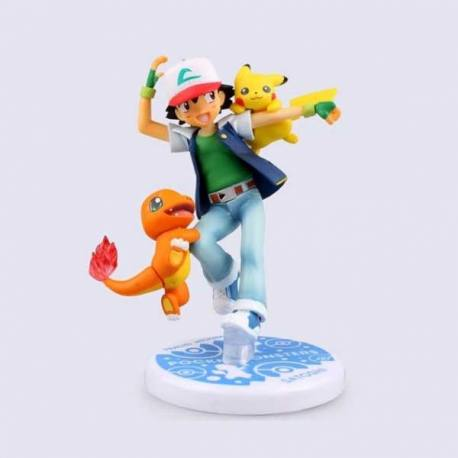 Figura Pokemon Ash Ketchum-Pikachu-Chamander