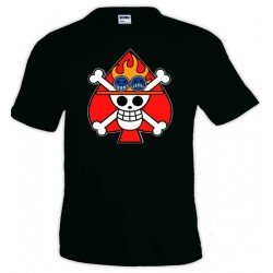Camiseta One Piece - Ace flag