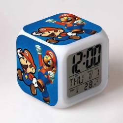Reloj Despertador De Colores Super Mario
