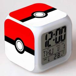 Pokemon - Reloj Despertador Multicolor Pokeball