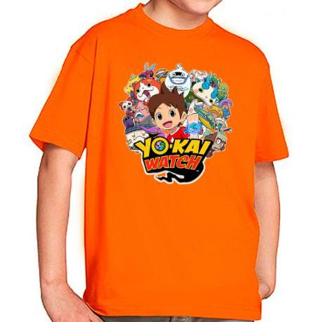 Camiseta Yo-Kai Watch personajes