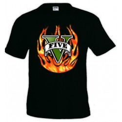 Camiseta Grand Theft Auto V - Fuego