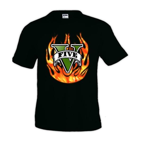 Camiseta Grand Theft Auto V - Fuego