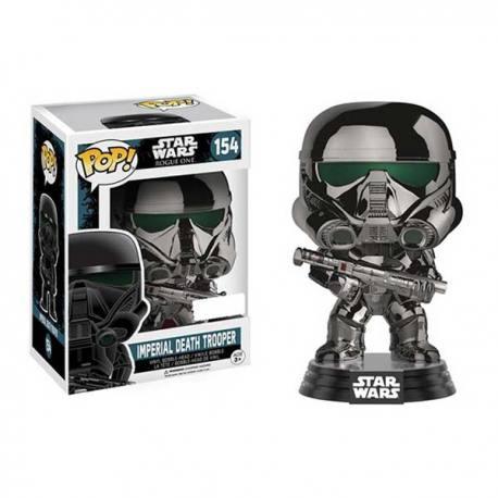 Funko Pop Star Wars Rogue One Imperial Death Trooper Cromado