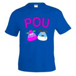 Camiseta POU infantil - Duo lila