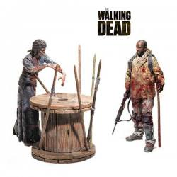 Set de Figuras Walking Dead Morgan y Caminante Empalado