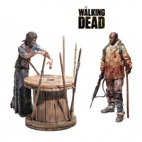 Set de Figuras Walking Dead Morgan y Caminante Empalado