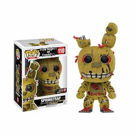 Figura Funko Pop Five Nights at Freddy's Springtrap Flocked - Exclusiva