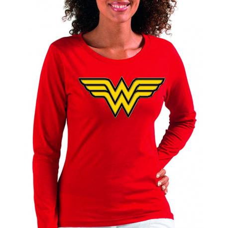 Camiseta Mujer Maravilla Manga Larga