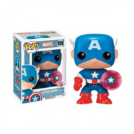 Figura Funko Pop Marvel Capitán América 75 Aniversario - Exclusiva