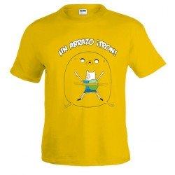 Camiseta hora de aventuras Abrazo Jake