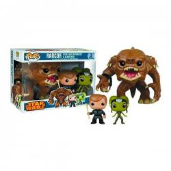 Figura Funko Pop Star Wars Rancor, Luke Skywalker & Slave Oola