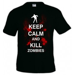 Camiseta Keep Calm and Kill Zombies