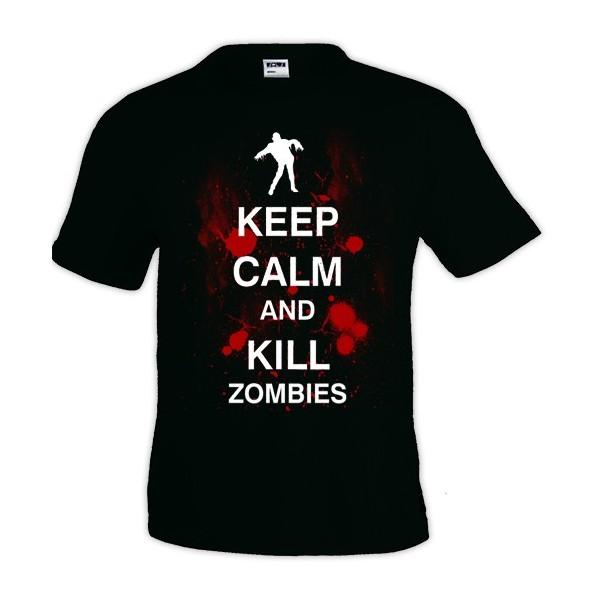 Camiseta Keep Calm and Kill Zombies