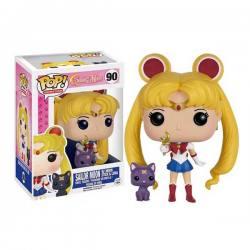 Figura Funko Pop Sailor Moon With Moon Stick & Luna