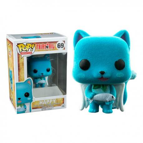 Figura Funko Pop Fairy Tail Happy Terciopelo - Exclusiva