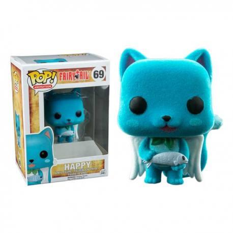 Figura Funko Pop Fairy Tail Happy Terciopelo - Exclusiva