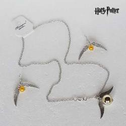 Set de Pendientes y Colgante Snitch - Harry Potter
