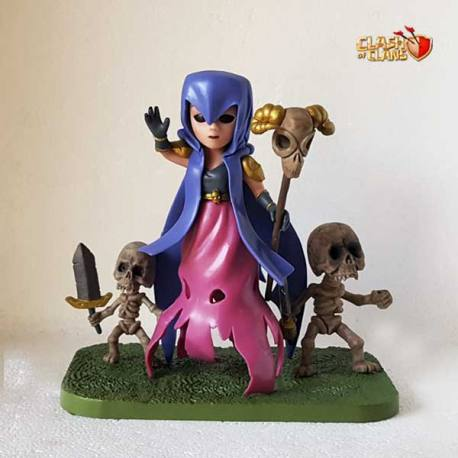 Figura Clash of Clans Bruja Con Esqueletos