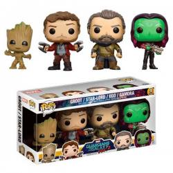 Figuras Funko Pop Guardianes Galaxia Volumen 2 - Pack de 4