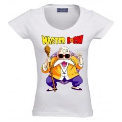 Camiseta Dragon Ball, Master Roshi de mujer