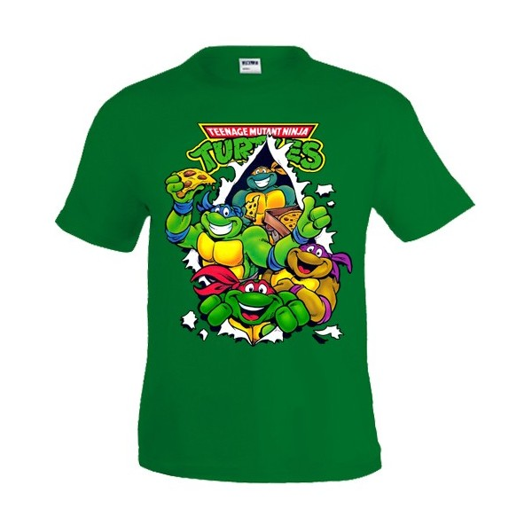 Camiseta Tortugas Ninja Pizza manga corta NIÑOS
