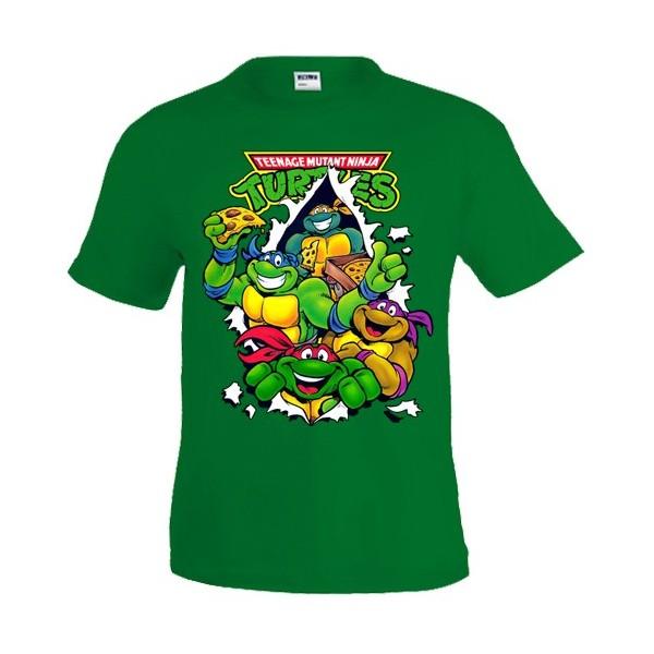 Camiseta Tortugas Ninja Pizza manga corta NIÑOS