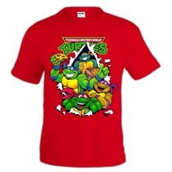 Camiseta Tortugas Ninja Pizza manga corta ADULTOS