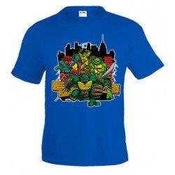Camiseta Tortugas Ninja en la ciudad