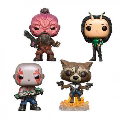 Set de Figuras Funko Pop Guardianes Galaxia Volumen 2 - Pack de 4