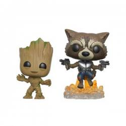Funko Pop Groot & Rocket Guardianes de la Galaxia Volumen 2 - Exclusiva