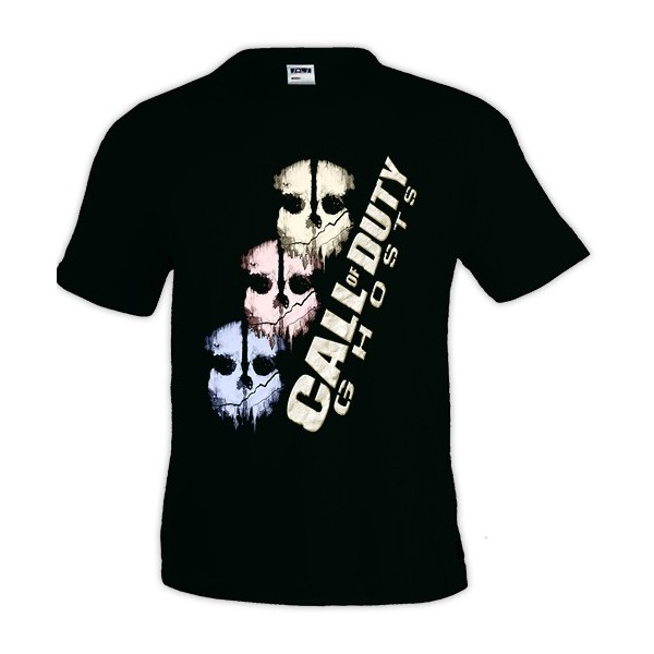 Camiseta inspirada en Call of duty ghost con diseño skulls