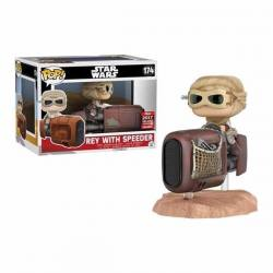 Figura Funko Pop Rey With Speeder Star Wars - Exclusiva 2017
