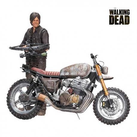 Figura Daryl Dixon Con Moto Personalizada-Walking Dead