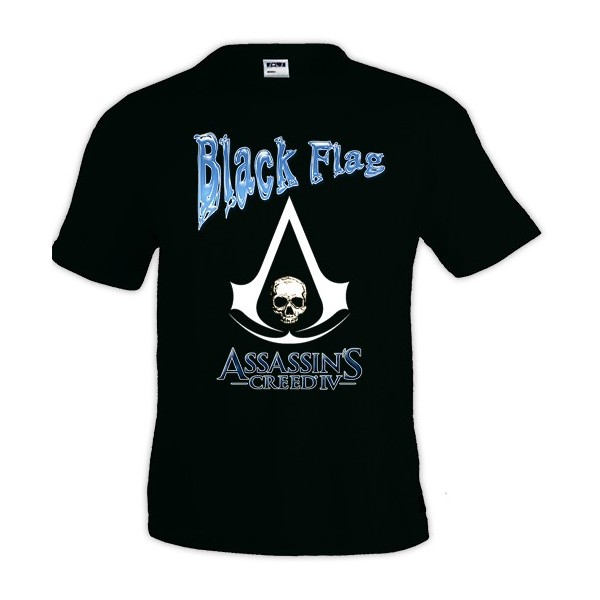 Camiseta Assassins Creed diseño Black Flag Blue