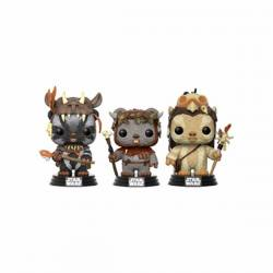Figuras Funko Pop Star Wars Ewoks Teebo Chief y Logray - Exclusiva