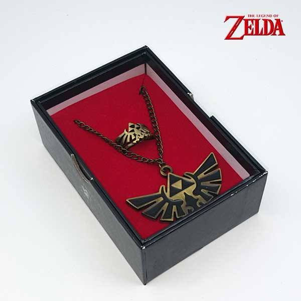 Set colgante y anillo The Legend of Zelda - Escudo Hyliano