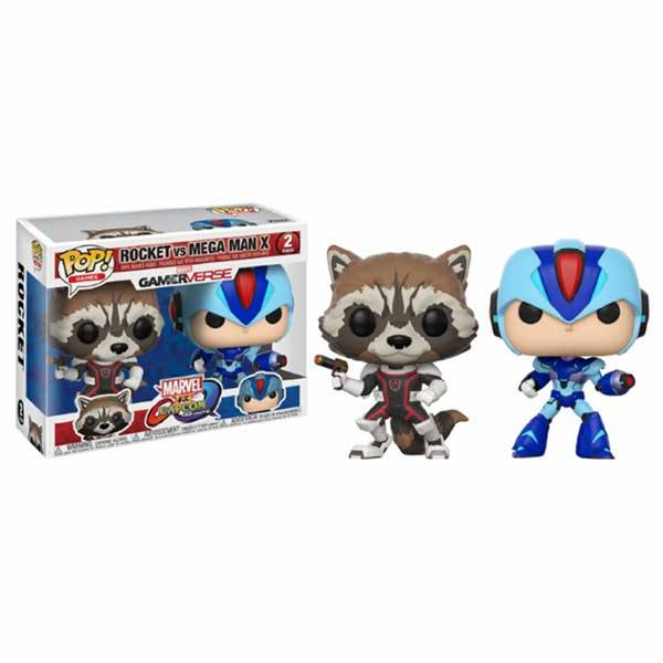 Pack Figuras Funko Pop Rocket vs Mega Man X