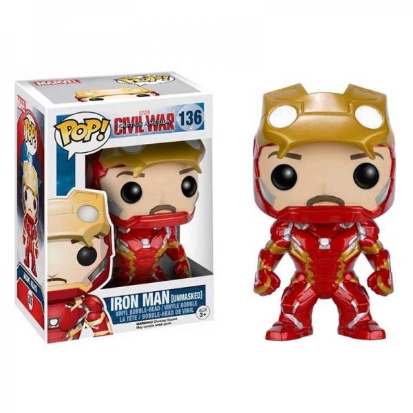 Funko Pop Iron Man Unmasked Capitan America Civil War - Exclusiva