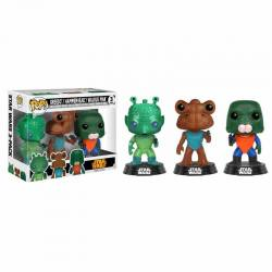 Pack Figuras Funko Pop Star Wars Greedo, Hammerhead y Walrus Man - Exclusivo