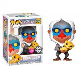 Figura Funko Pop Disney Rafiki With Simba Flocked - Exclusiva