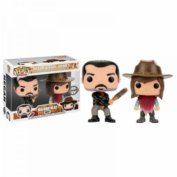 Pack Funko Pop The Walking Dead Negan & Carl Grimes - Exclusivo