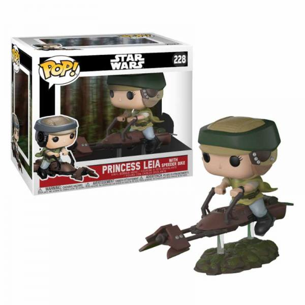 Figura Funko Pop Princess with Speeder Bike Star Wars