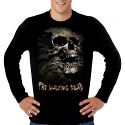 Camiseta Walking Dead Skull Inside Me Manga Larga
