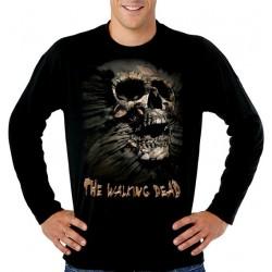 Camiseta Walking Dead Skull Inside Me Manga Larga
