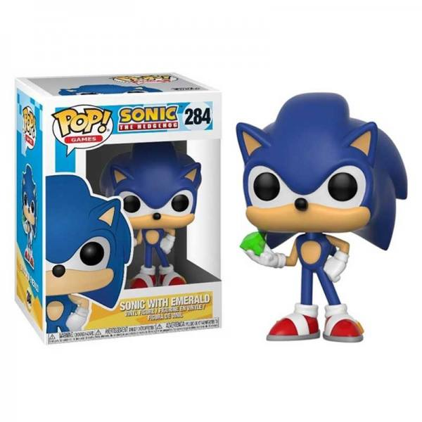 Figura Funko Pop Sonic con Esmeralda Sonic The Hedgehog