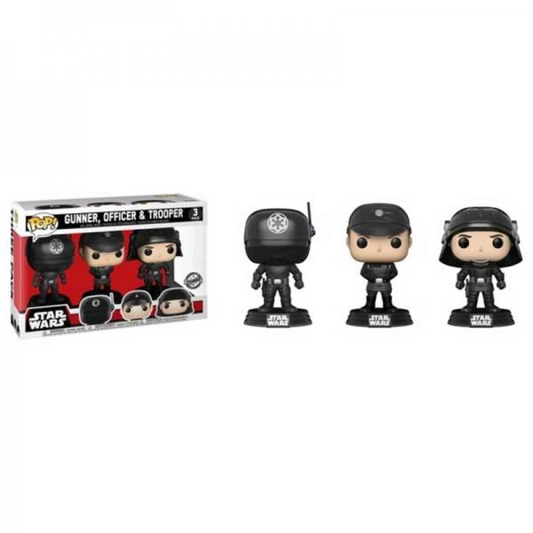 Figuras Funko Pop Star Wars Gunner, Officer y Trooper - Exclusivas