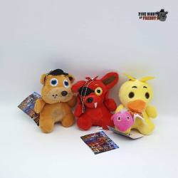 Five Nights at Freddy's - Set de Llaveros Peluche