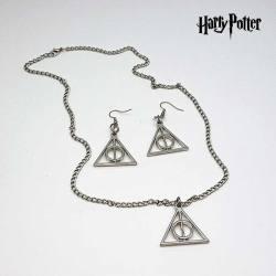 Set Harry Potter Reliquias de la Muerte - Colgante y Pendientes